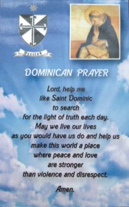 Dominican Prayer Card 1
