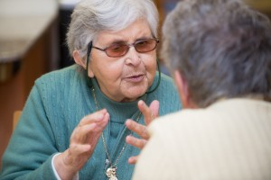 Sr. Marcella Crudden at Alzheimer's Cafe